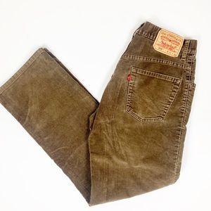 Men's Levi's 559 Brown Corduroy Pants 31x32